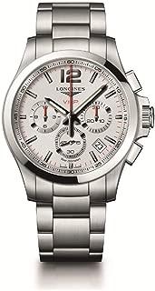[ロンジン] 腕時計 コンクエスト V.H.P. クォーツ クロノグラフ パーペチュアルカレンダー L3.717.4.76.6 メンズ 正規輸入品 シルバー