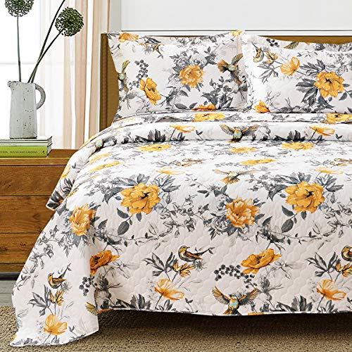 Bettwäsche-Set mit Blumenmuster in voller Größe