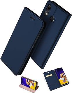 ZenFone 5 ZE620KL 手帳型 ケース uovon 軽量 ASUS ZenFone 5Z ZS620KL 用 ポケット カード収納あり マグネット スタンド機能付き [高級 PU レザー+TPU素材] 耐衝撃 全面保護カバー (Ze...