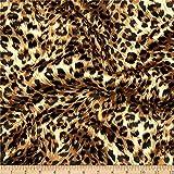 Ben Textiles Charmeuse Satin Big Cheetah Tan/Brown/Black Fabric By The Yard