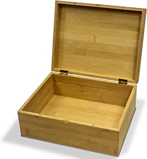 Homemade Perfect Bamboo Stash Box with Magnetic Lid | Wooden Keepsake Box for Storage and Jewelry