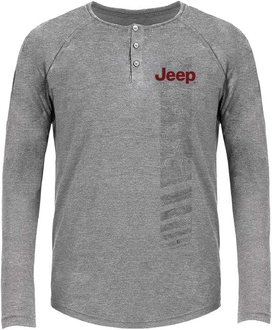 Jeep Men's Topographic Tri-Blend Henley