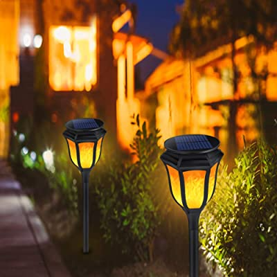 Solar Torch Light with Flickering Flame,ALOVECO...