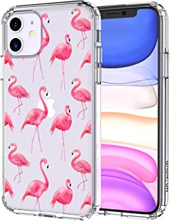 MOSNOVO iPhone 11 Case, Tropical Flamingo Pattern Clear Design Transparent Plastic Hard Back Case with TPU Bumper Protective Case Cover for Apple iPhone 11 (2019)