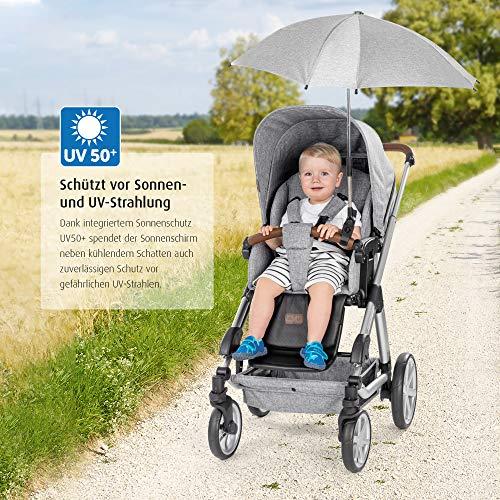 reer ShineSafe - Sombrilla universal para cochecito de bebé, color gris
