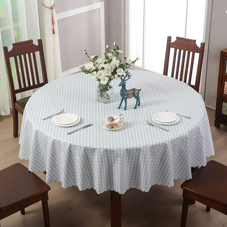 Garden hall Runde Tisch Kunststoff tischdecke, PVC wasserdicht und lBestendig einweg einfache tischset couchtischset (Farbe   A, Größe   240cm)