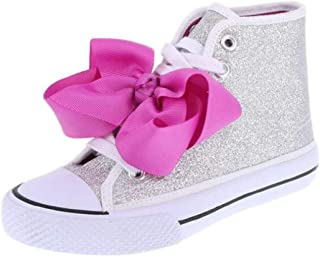 JoJo Siwa Girls High Top Canvas Glitter Shoe Sneaker Size 13 1 2 3