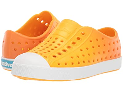 Native Kids Shoes Jefferson Ombre (Toddler/Little Kid) (Beanie Yellow/Shell White/Begonia Ombre) Kid