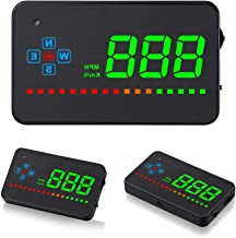 Hud Display, iKiKin Car Truck HUD 3.5inch GPS Speedometer Windshield Screen Projector with Reflection Film, Head Up Display for All Cars and Trucks