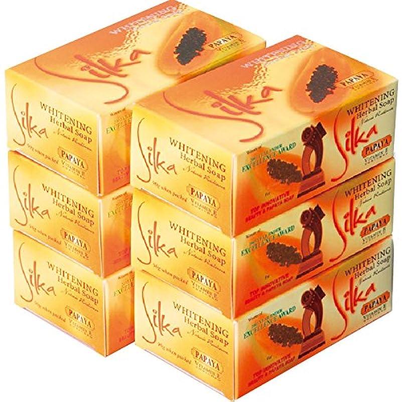 ラボ書店アソシエイトフィリピン 土産 シルカ パパイヤ石けん 6コセット (海外旅行 フィリピン お土産)