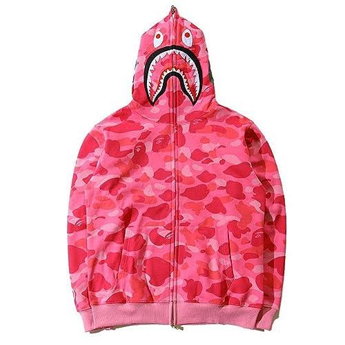 291636cf89bb Bathing Ape Bape Shark Jaw Camo Full Zipper Hoodie Men s Sweats Coat Jacket