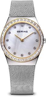BERING Reloj Analógico Classic Collection para Mujer de Cuarzo con Correa en Acero Inoxidable y Cristal de Zafiro 12430-010
