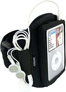 igadgitz U0134 Water Resistant Neoprene Sports Gym Jogging Armband Compatible with Apple iPod Classic 80gb, 120gb and 160gb - Black