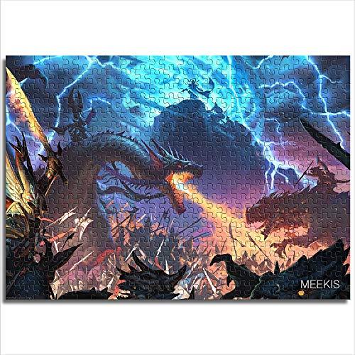 Zeo Qi Lin Zou Puzzle pour Enfants Adulte Total War Warhammer II 52x38cm Bois 1000 pièces Jeu Parent-Enfant améliorer la logique de la pensée Cadeau de noël