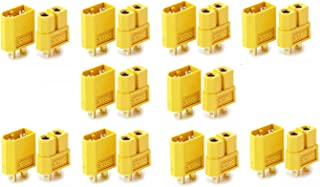 Unique India Sales XT60 Connector - 10Pairs (10 Male + 10 Female)