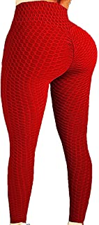 SLIMBELLE Women Yoga Pants Honeycomb High Waist Ruched Butt Lifting Scrunch Booty Leggings Workout Tights