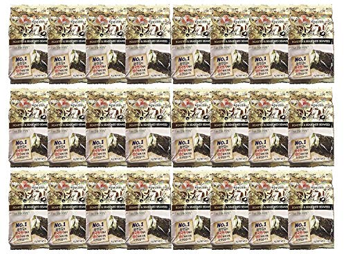Kim Nori Gold Kim Roasted Seasoned Seaweed Snacks 4g ( 0.14 oz ) - 24 Packs Kim Nori Snack / 김, のり, 海苔, 紫菜