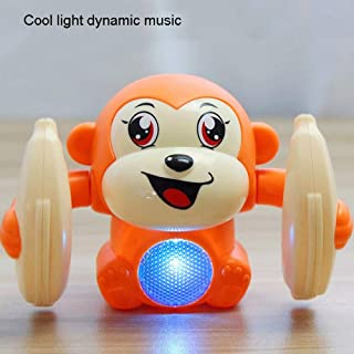 Mopoq Upright Handstand Will Turn The Little Monkey Tumbler With Music Lighting Baby Toy 0-1 Years Old Early Education Puz...