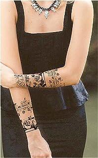 Qqinghan Sexy bloem tijdelijke tatoeages voor vrouwen body art schilderij armbenen tatoeages sticker realistische nep zwar...