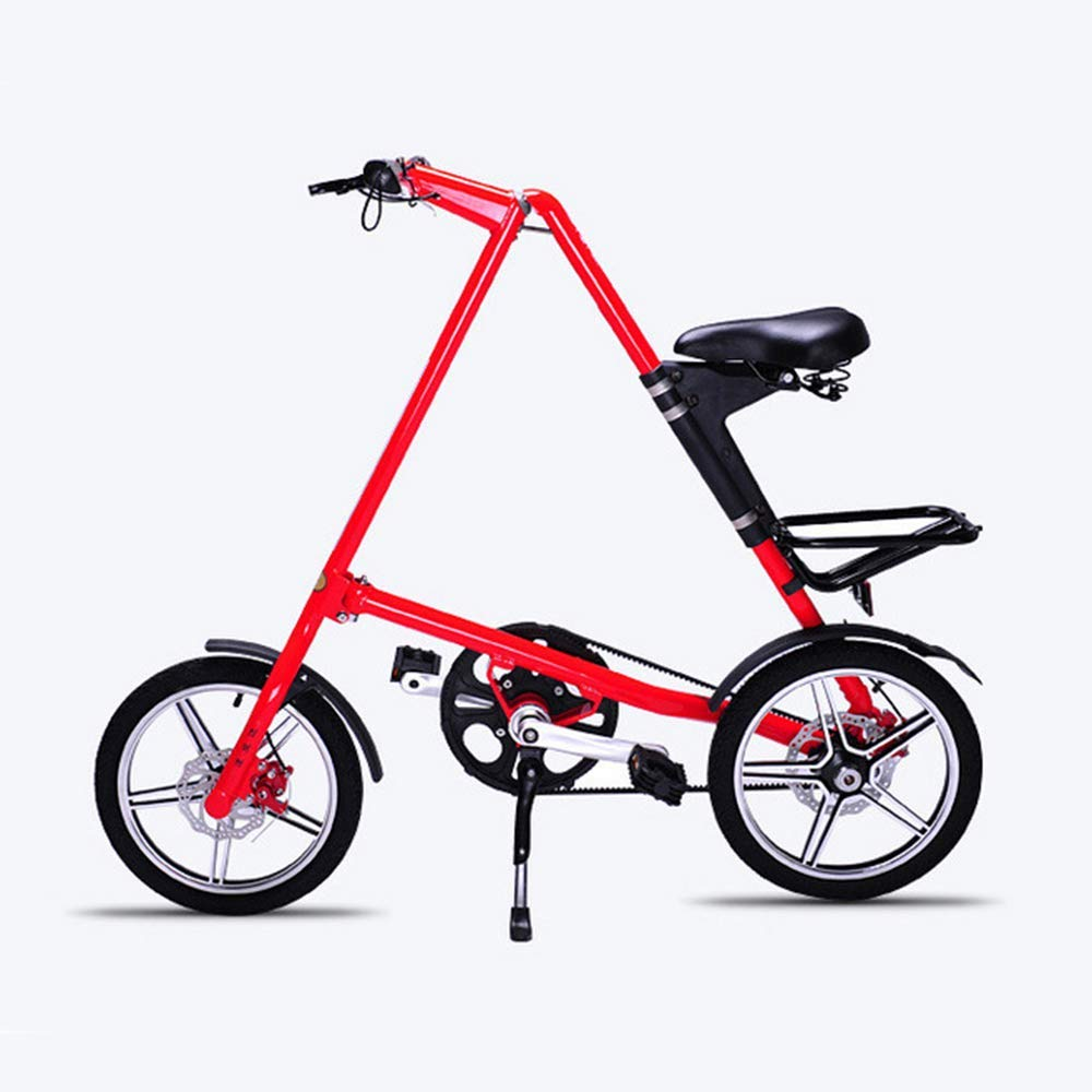 WSJ Bicicleta plegable de aluminio, 16 pulgadas, para hombre y mujer, de aleación ligera, plegable, color rojo: Amazon.es: Deportes y aire libre
