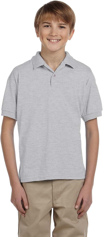 Gildan G880B Youth 5.6 oz. DryBlend 50/50 Jersey Polo - Ash Grey - M
