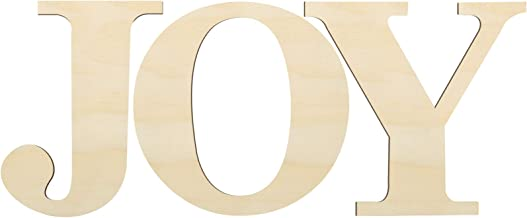 3 Pieces 12 Inch Wooden Large Joy Letter Home Sign Christmas Wooden Letter for Home Wall Decoration