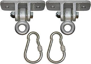 WZHZJ Locking Snap Hooks | Heavy Duty Swing Hook Hangers Seat Trapeze Sets | Static Tension 5000 Lb Capacity