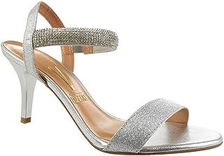 cbb92c0c2a Moda - Prata - Sandálias   Calçados na Amazon.com.br