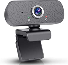 Webcam 1080p HD Webcam PC Webcam camecho USB Mini Computer Camera Built in Microphone Flexible Rotating Clip for Video Call Recording Conference