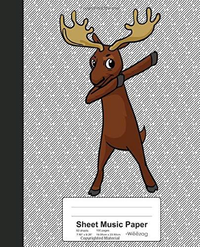 Sheet Music Paper: Dabbing Moose Book