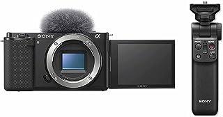 Sony Alpha ZV-E10 | APS-C spiegellose Wechselobjektiv-Vlog-Kamera (schwenkbarer Bildschirm für Vlogging, 4K-Video, Echtzeit-Augen-Autofokus) + GP-VPT2BT Bluetooth Handgriff