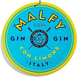 Malfy Gin Con Limone Tin Sign - Logo Blechschild