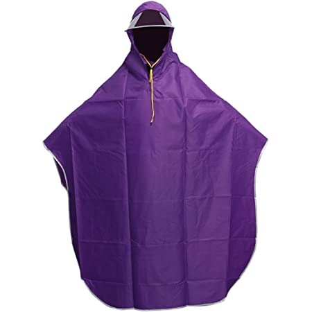 Vorcool Men's Women's Cycling Poncho Rain Cape with Hood Windproof Waterproof Mobility Scooter Cover Outdoor Camping Mat with Transparent Cap (Purple)