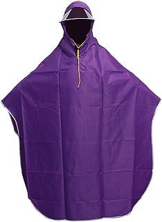 VORCOOL - Poncho de lluvia con capucha para mujer, hombre, ciclismo, color morado