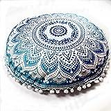 Bokeley Pillow Case, Polyester Circle Indian Mandala Bohemia Decorative Throw Pillow Case Bed Home Decor Car Sofa Waist Cushion Cover (L)