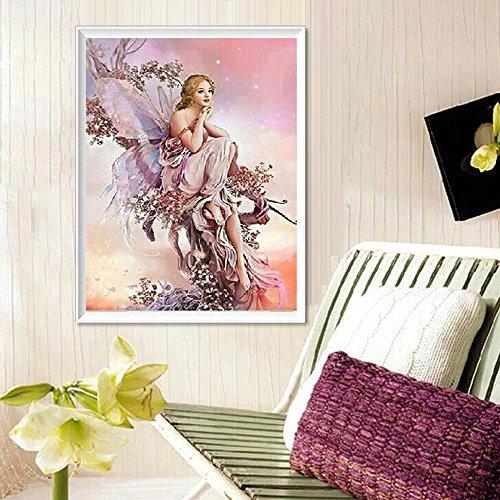 HuntGold 32 * * * * * * * * 45 cm 5D Peintures à broder Diamant Strass collez-le DIY Diamant Peinture Beauté Papillon Art Decor