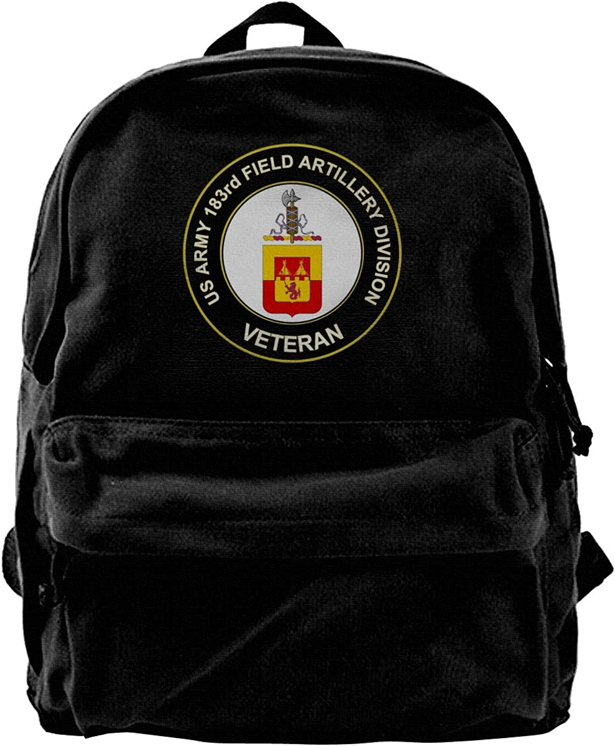 US Army Veteran 183rd Field Artillery Division Fashion Lightweight Canvas Shoulder Backpack for Women & Men