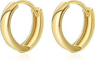 BOZONY 18K Gold Plated Hypoallergenic Cuff Earrings Small Huggie Earrings for women