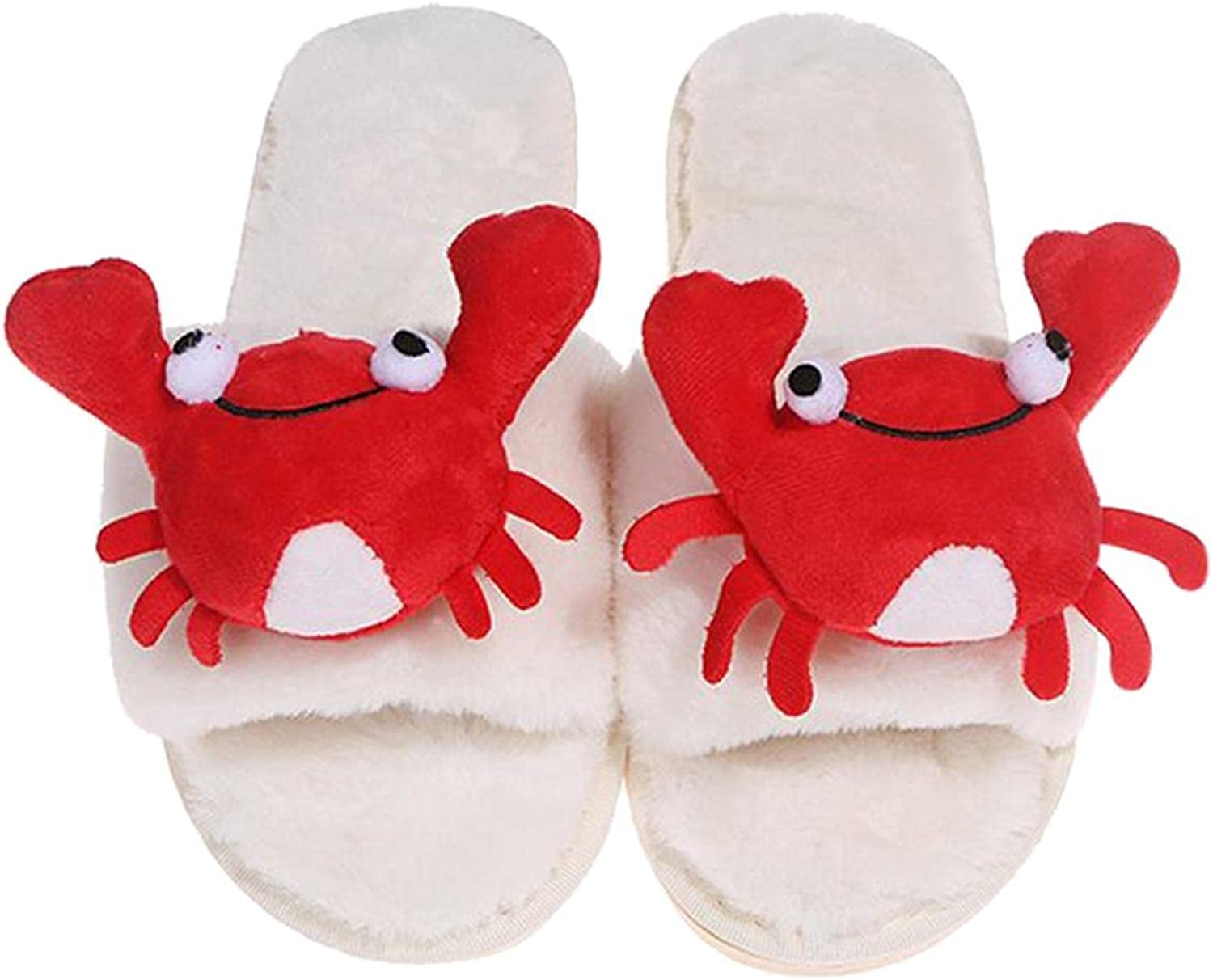 Hunauoo Slippers for Women Cheap mail order sales Houston Mall Plush Pure S Flat Color Home