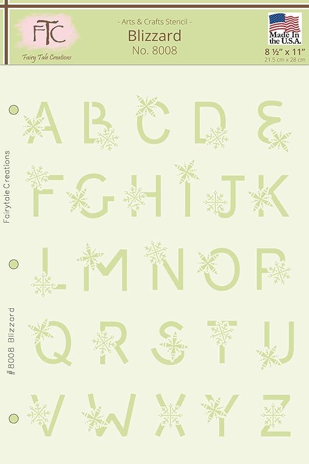 Fairytale Creations Blizzard Alphabet Stencil, 8 1/2