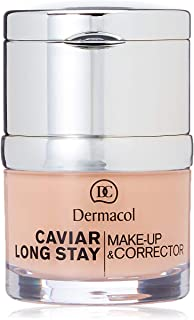 Dermacol Caviar Long Stay Maquillaje Corrector, Tono: Pale - 30 ml