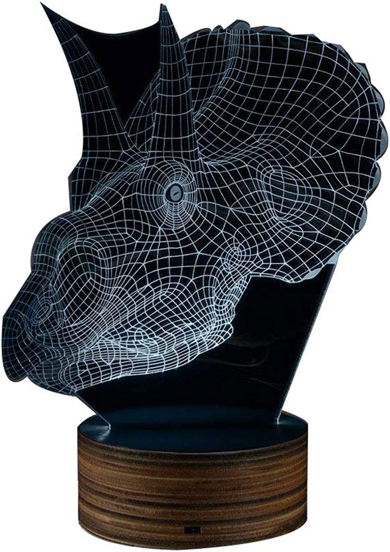 Gothic 3D Dragon Skull 3D optische Tuschung Nachtlicht, Dragon Head LED-Licht Schreibtischlampe Fantansy Goth Beleuchtung Dekoration Drachen Geschenk
