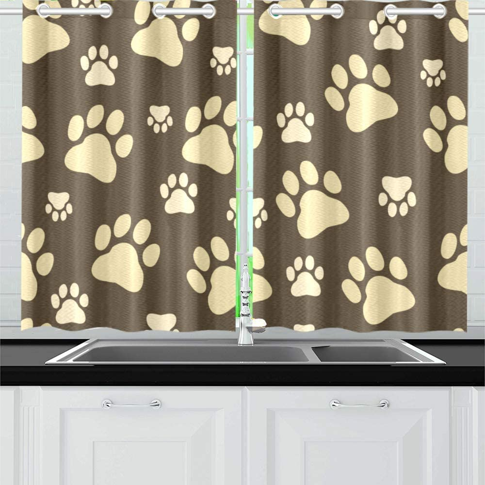INTERESTPRINT Blackout Kitchen mart Seasonal Wrap Introduction Window Treatments Panel Dra Small