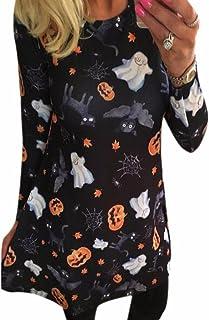 Pumpkin Cartoon Printing Long Sleeve Dress Christmas Halloween Party Dress Sexy