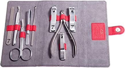 韩国777 原装正品指甲刀9件套装正品 指甲剪套装 指甲钳 NTS-1023红