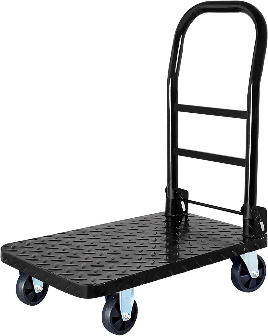DALIZHAI777 Platform Popularity Cart Push Deck Tr Max 66% OFF Steel Dolly