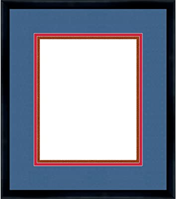 Amazon.com: Poster Palooza Brown Wood Frame with a Triple ...
