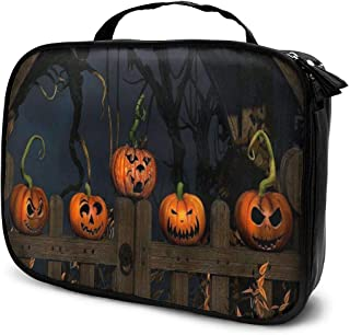 Cosmetic Bag Halloween Pumpkin Travel Makeup Bag Anti-wrinkle Cosmetic Case Multi-functional Storage Bag Large Capacity Makeup Brush Bags Travel Kit Organizer Women's Travel Bags