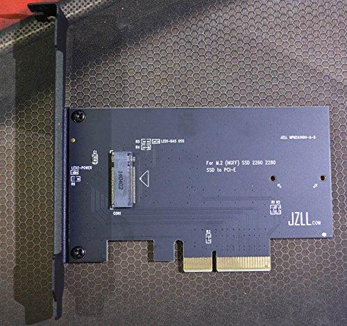 Adapterkarte für M.2 NGFF SSD 950Pro XP941 SM951 M6E SSD Adapter bis zu 2.700 M/S auf PCI-E 4X für M.2 NGFF SSD 950Pro XP941 SM951 M6E SSD Adapter