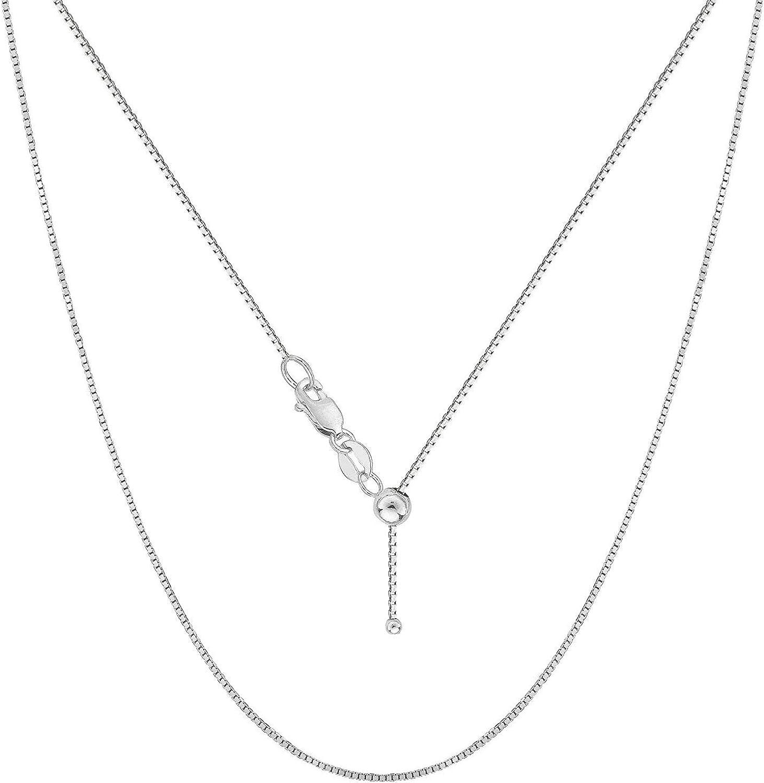 Verona Jewelers Sterling Silver Adjustable Bolo Neckla Box Chain Charlotte All stores are sold Mall